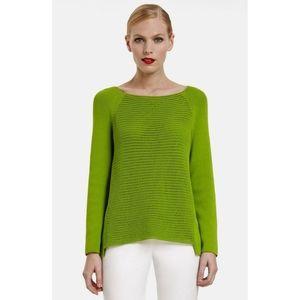 Lafayette 148 NY   Open Stitch Front Sweater